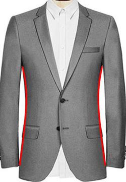 Herren Anzug steigendes Revers, Stehkragen Anzug, Zweireiher