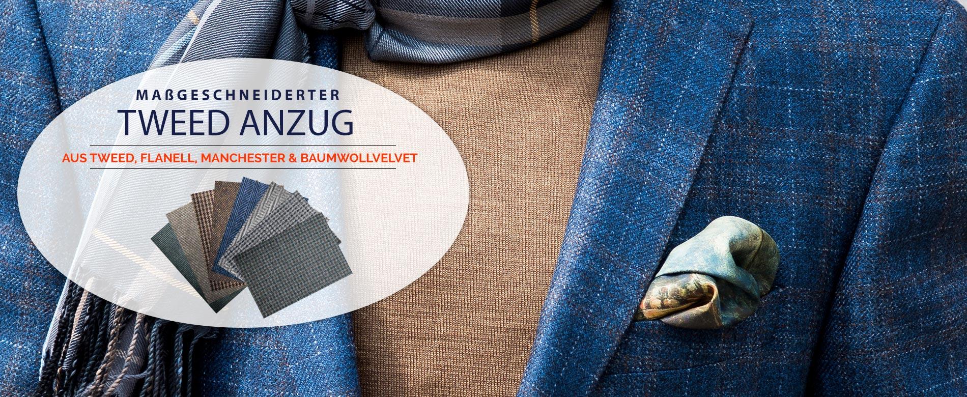 Tweed Anzug: Maßgeschneiderte Tweed Anzüge online kaufen!